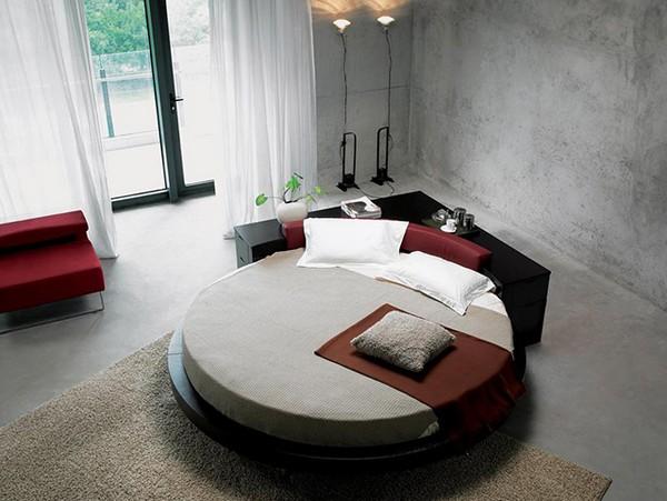 Дорожка и покрывало для круглой кровати