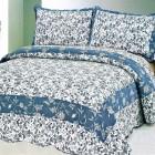 покрывало на кровать голубое
