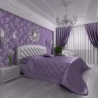 фиолетовое покрывало на кровать