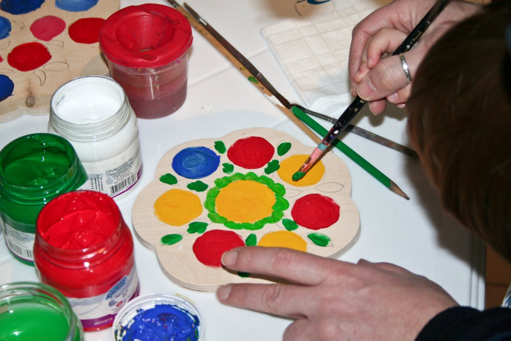 Способы применения акриловых красок