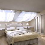 Дизайн спальни в мансарде с фото