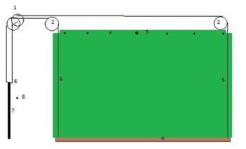 схема установки штор