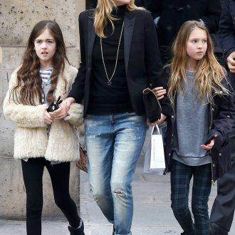 Кейт Мосс в джинсах