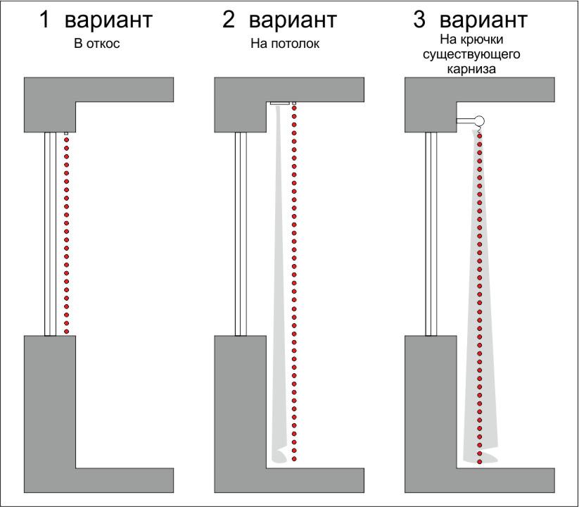 Схема штор из бусин