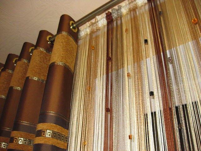 Нитяные шторы кисея - популярная новинка сегодняшнего рынка текстильных изделий для интерьера