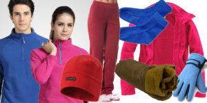 Характеристики и качества флиса позволяют сохранять тепло. Производители отшивают шапки, варежки, носки, термобелье, турснаряжение.