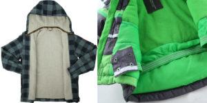 Подклад флис или утеплитель флис встречается в повседневной одежде. Мембранная одежда тоже отшивается с флисовой тканью.