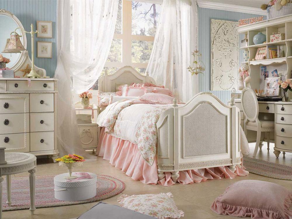 Шебби шик, пожалуй, один из самых милых и нежных стилей интерьера для оформления детской комнаты