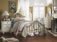 необычный дизайн спальни шебби шик