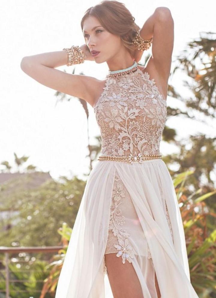 Вот так выглядит свадебное платье без подъюбника