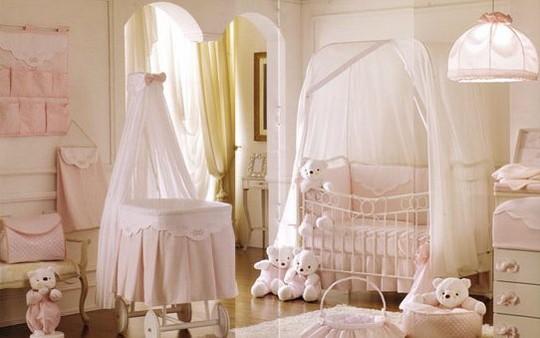 Кроватки с балдахином для новорожденных