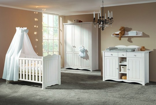Балдахин белый на детскую кроватку фото