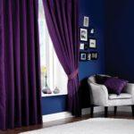 фиолетовые шторы из бархата