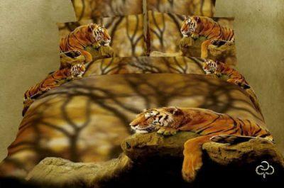 постельное белье 3d с тиграми