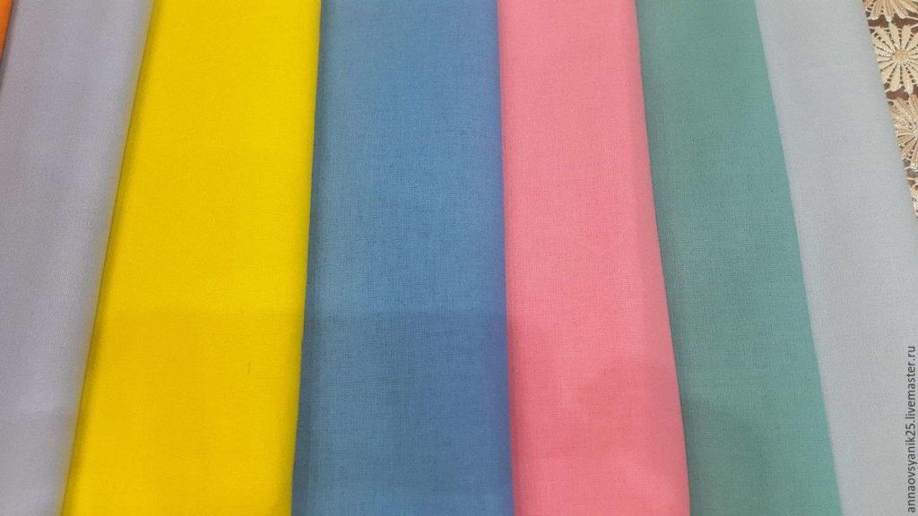 Мадаполам в разных цветах