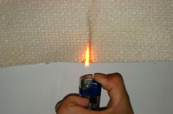 проверка горючести ткани