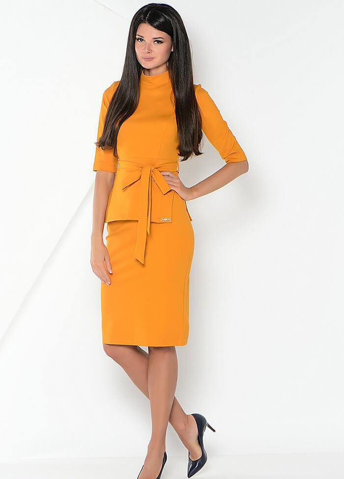 Платье костюм в деловом стиле