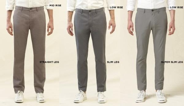 Фасоны брюк вид спереди