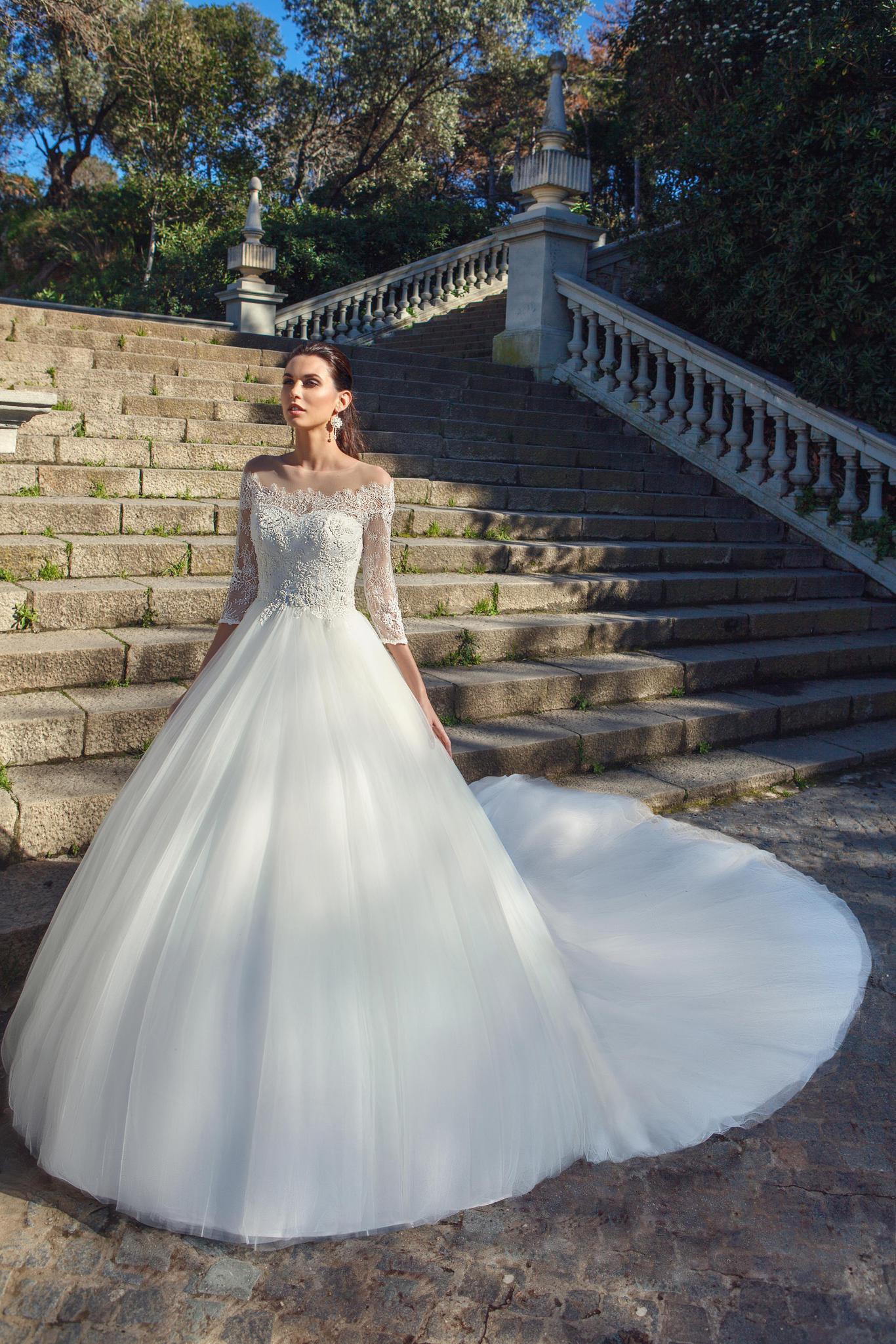 Силуэт свадебного платья принцесса