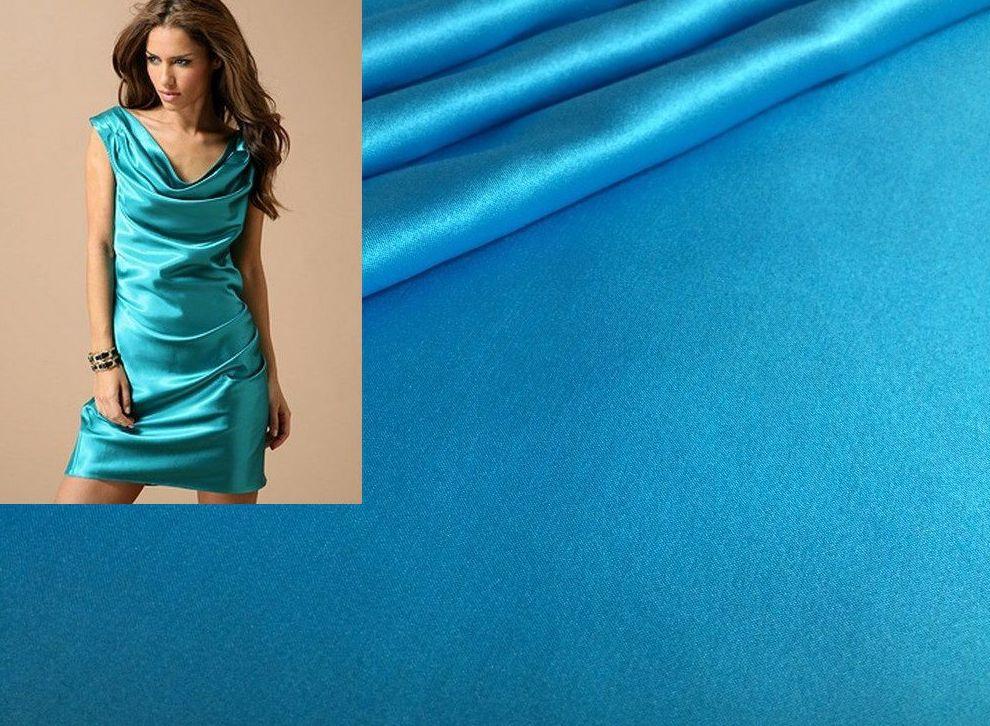 ткань и платье из атласа Гладкий атлас