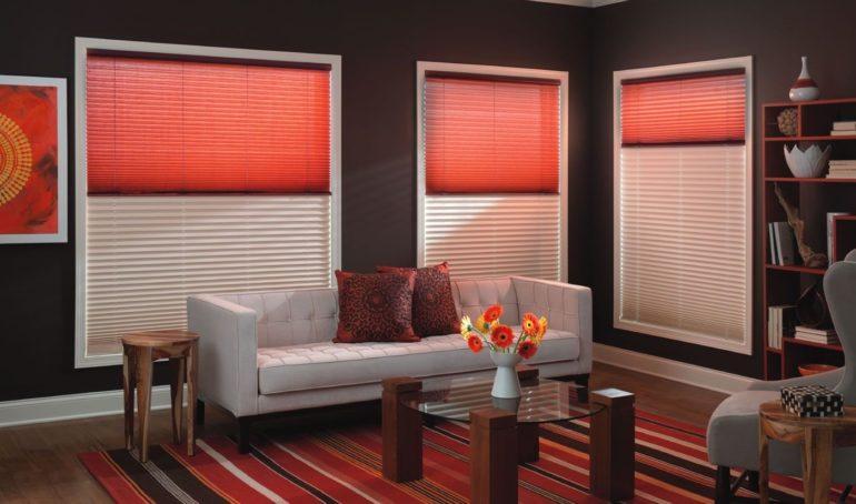 С такими шторами можно отлично регулировать уровень освещенности помещения