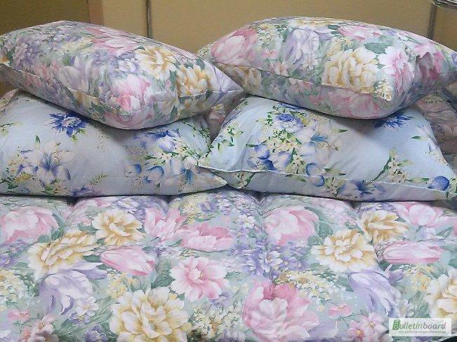 Подушки и одеяла из перьевого тика