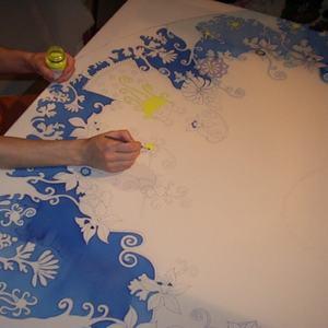 Мастер класс по росписи ткани