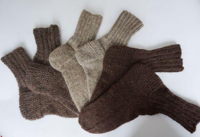 Шерстяные носки ручной работы