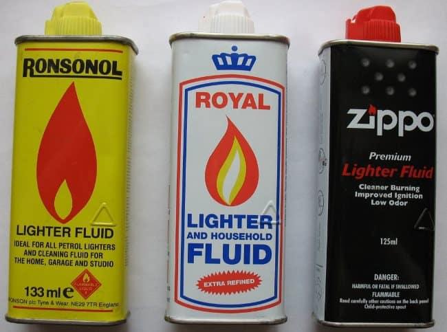 Бензин в качестве очистителя
