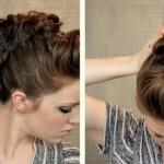 Женская прическа ирокез на короткие и длинные волосы   VolosoMagia.ru