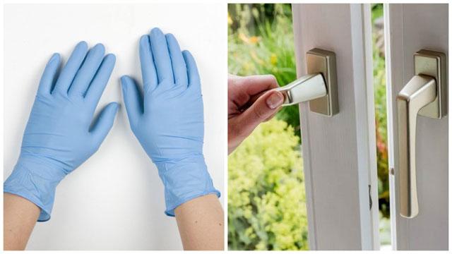 Резиновые перчатки проветривание помещения