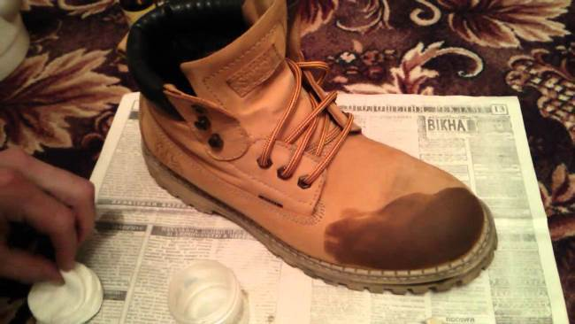 Обувь испачкана в мазут