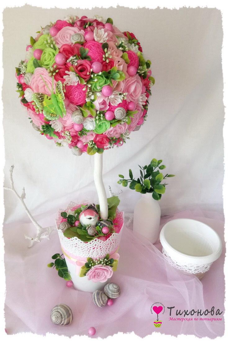 Цветочное дерево счастья «Пробуждение весны»