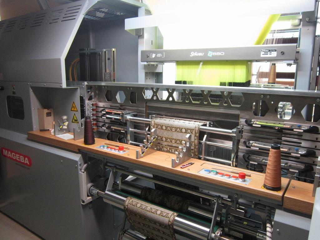 машина для изготовления ткани