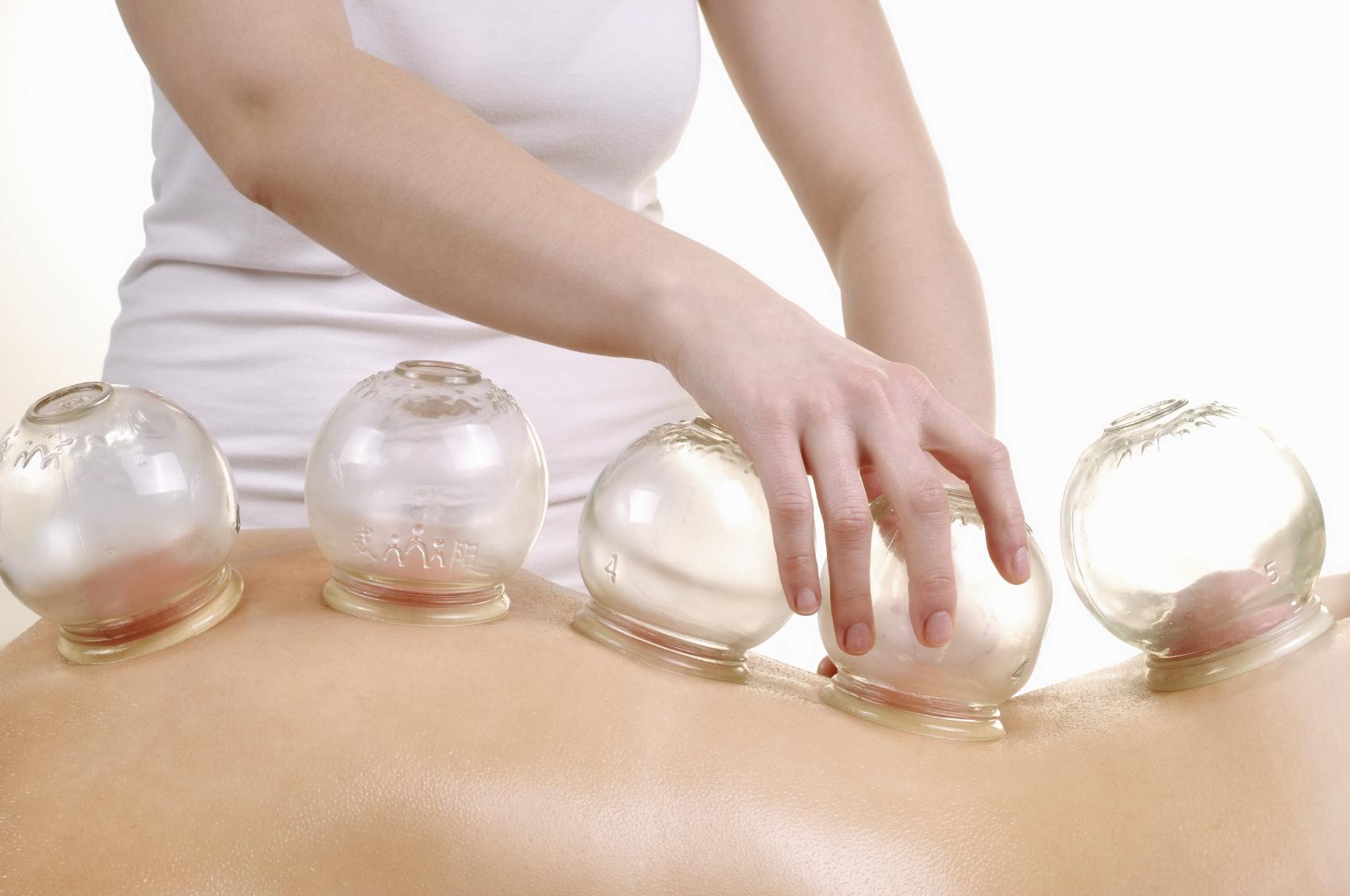 баночный лечебный массаж спины